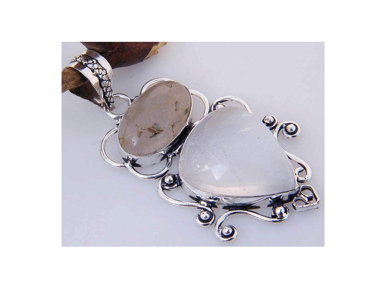 Thebestjewellery Multi Stone Quartz Pendant Handmade Designer Pendant Silver Plated Pendant Single Bail Pendant LA-3031