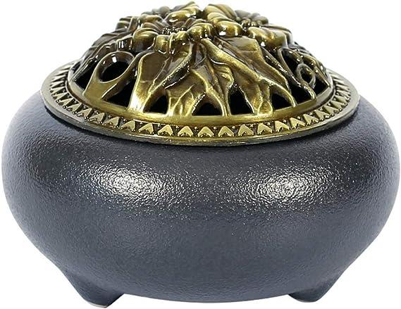 芳香器・アロマバーナー アンティークセラミック香炉ライン香家のサンダルウッドアロマ炉ホームデコレーション アロマバーナー芳香器
