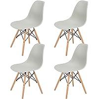 Chaises Design Lot de 4 Tendance rétro Eiffel Bois Chaise de Salle à Manger