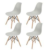 Set di 4 Eames DSW sedie da pranzo