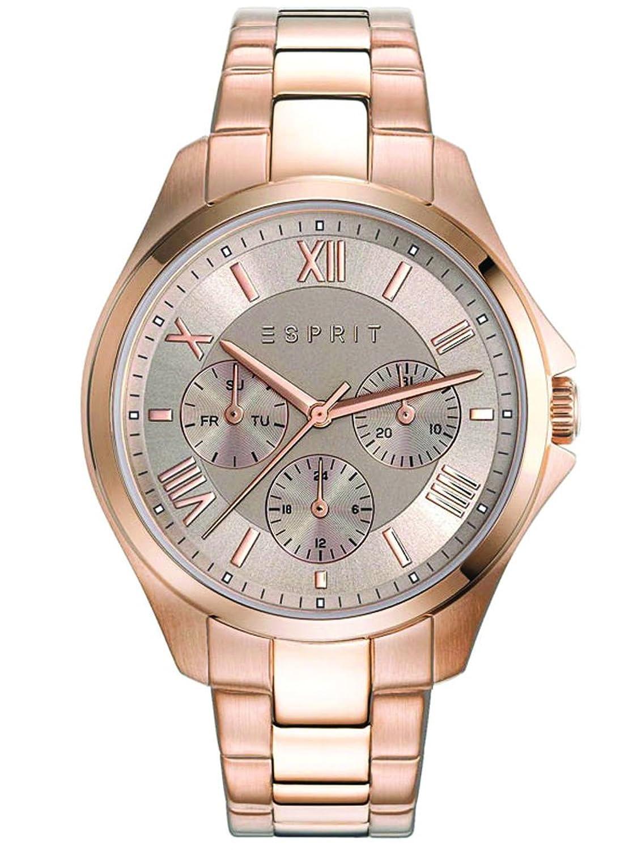 Esprit Damen-Armbanduhr Agathe Rose Gold Analog Quarz Edelstahl