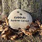 Natural Pet Memorial Stone, River Rock, Personalized