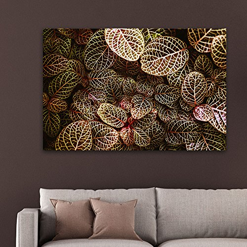Watercolor Style Small Textured Leaves Gallery
