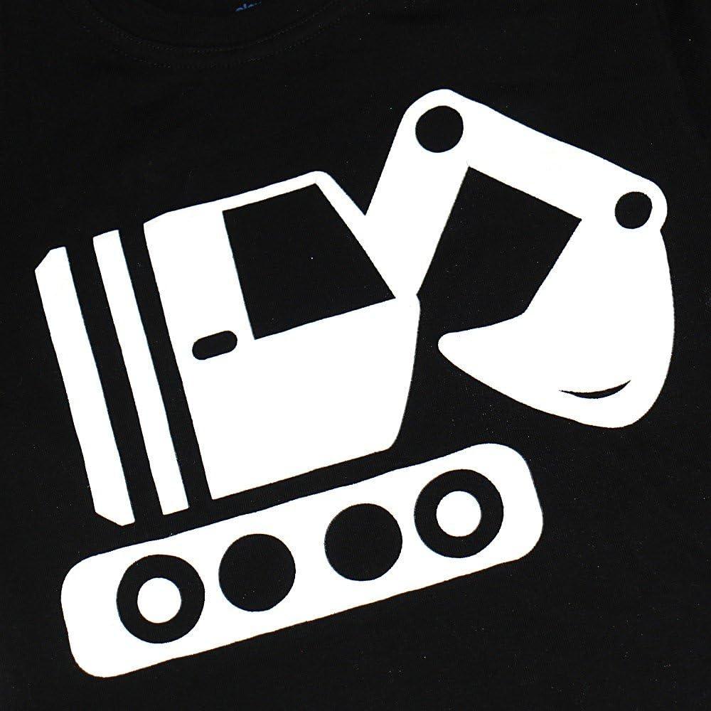 Elowel Boys Glow in The Dark Tractor 2 Piece Pajamas Pjs Set 100/% Cotton Size2Y-10Y