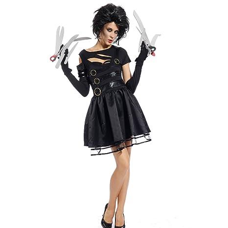 Maboobie - Disfraz de Miss Manostijeras para Mujer Adulto Dress Fiesta Temática Carnaval Halloween (Talla