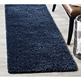 "Safavieh California Shag Collection 2'3"" x 9' Area Rug, Navy"
