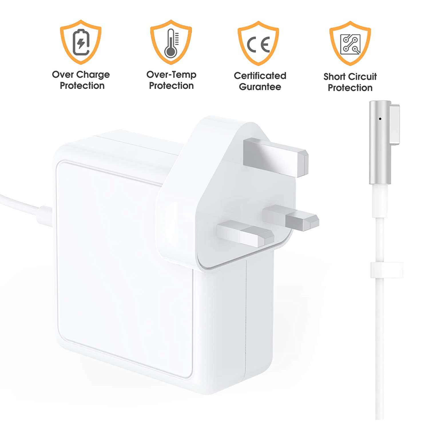 Great Replacement 45W Magsafe 2 Magnetic T-Tip Power Adapter Charger for MacBook Air 11-inch and 13-inch,Works With MacBook Air Late 2012-2018 Summer MARVELLER Compatible With MacBook Air Charger