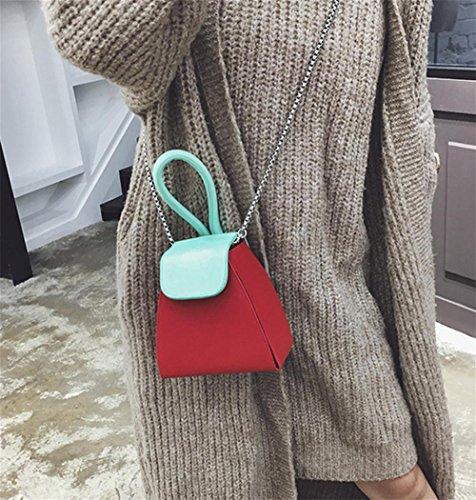 Pu Chain Green Fashion Tote Bag Shoulder Yanx Color Madam Ladies Handbag RxEPwqf
