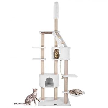 Happypet Rascador para gatos Árbol para gatos Gimnasio graffiatoio Sisal, fijación a techo, regulable en altura 210 - 233 cm: Amazon.es: Productos para ...