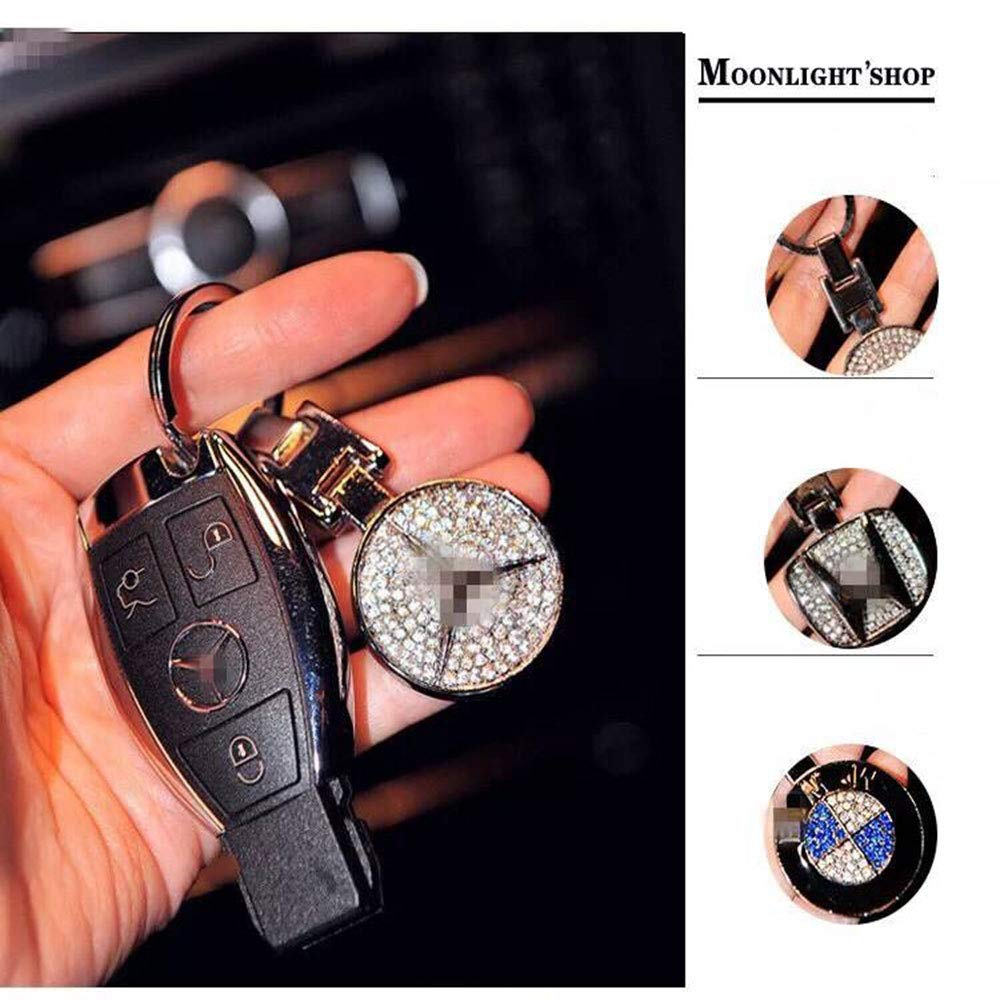 Fitracker 2PCS Leather Keyring Car Logo Keyring Keychain Accessories for Men and Women