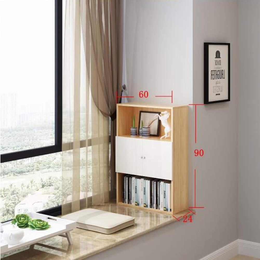 Bookcases Mini Shelf with Shelf, Three-Story Bay Window Locker, Free Combination Balcony Shelf Yixin (Color : C, Size : 602490cm)