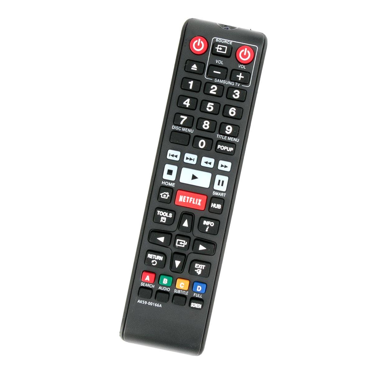 AK59-00166A Replaced Remote Control fit for Samsung Blu-ray Disc Player BD-FM59  BD-FM59C BD-F5900 BD-F7500 BD-FM59/ZA BD-FM59C/ZA BDFM59 BDFM59C BDF5900 ...