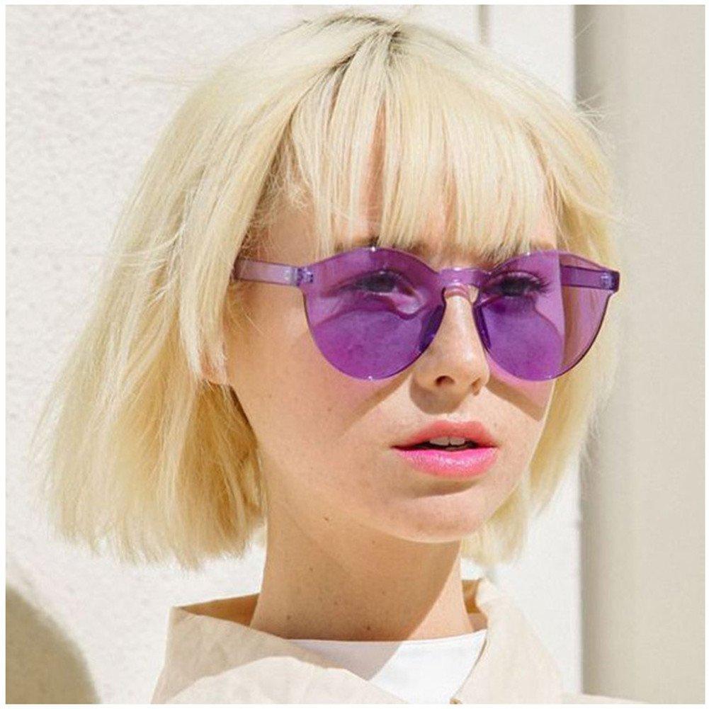 Amazon.com: Moda Retro sin marco anteojos de sol mujeres Cat ...