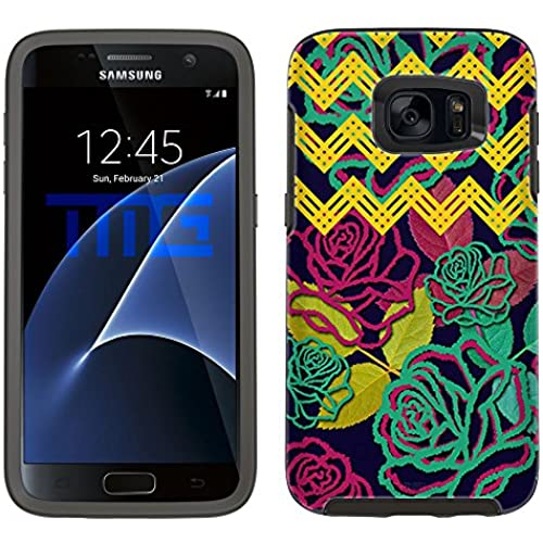 Skin Decal for Otterbox Symmetry Samsung Galaxy S7 Edge Case - Floral Cheveron Sales