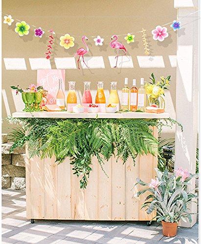 Nikgic 3m rosa s/ü/ße Flamingo Form Dekoration Geburtstagsparty Hochzeit Papier Dekoration Banner