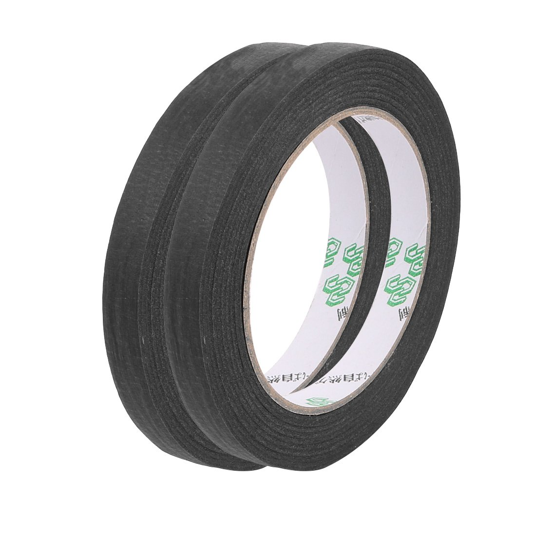 Crepe Paper Black Easy Release Masking tape for painters 55 yds Length x 0.5 inches Width 2pcs