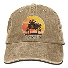 Unisex Adjustable Vintage Washed Denim Baseball Cap Dad Hat.Stay Your Fashionable Easy Fit Baseball Cap.Adjustable On The Back, You Can Easily Custom Fit The Cap On Your Head And Ensure A Secure Fit And Maximum Comfort At All Times.100% Cotto...