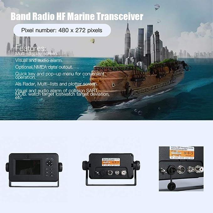 FDBF Receptor GPS de Radio bidireccional Walkie Talkie HP528 de 4.3 Pulgadas LCD transceptor: Amazon.es: Hogar