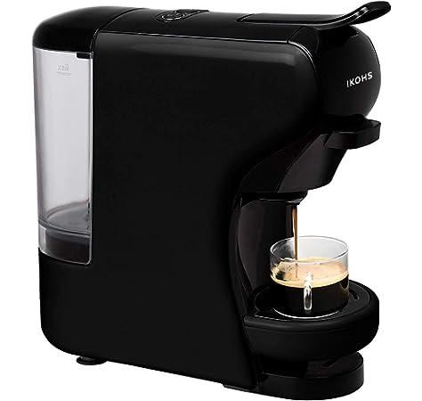 KREA ES200 - Cafetera (Independiente, Máquina espresso, 1 L, Dosis de café, De café molido, Negro): Amazon.es: Hogar