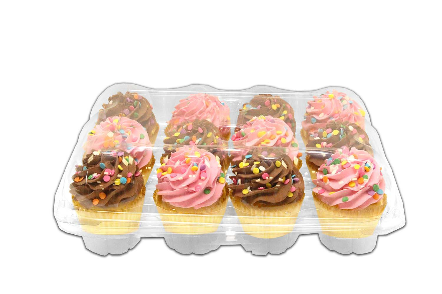 Inno-Pak KP412 12 count Cupcake Container, 12.38'' x 10'' x 3.7'' (Pack of 100)