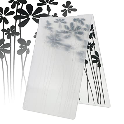 ZHUOTOP Newest Flowers Pattern Plastic Embossing Folders for DIY Scrapbooking Paper Craft//Card Making Decoration Supplies