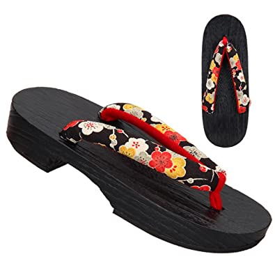 TopIn Damen Japanese International Geta Sommer Clogs Sandalen-Langlebig/Komfortabel(Enthält Ein Paar Geta Socken) Yrjsn