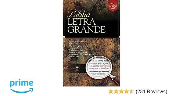 Biblia Letra Grande (Spanish Edition): RVR 1960- Reina Valera 1960: 9780899227085: Amazon.com: Books