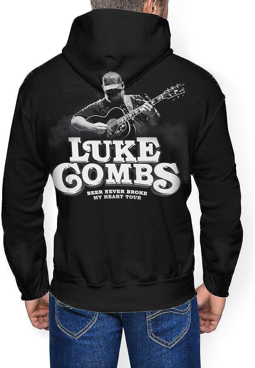 DenverHurst Luke Combs Mens Heavyweight Comfort Hooded Sweatshirt