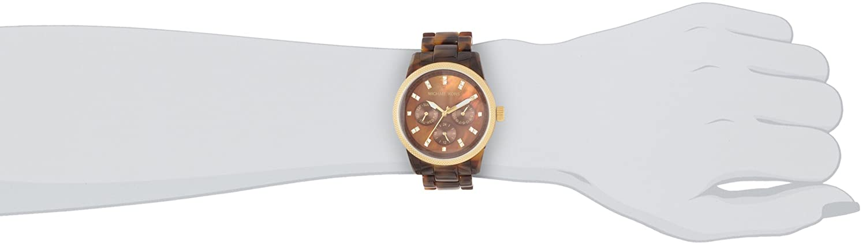 55673aa56c7cb Amazon.com  Michael Kors MK5038 Women s Chronograph Ritz Acrylic Tortoiseshell  Bracelet Watch  Michael Kors  Watches