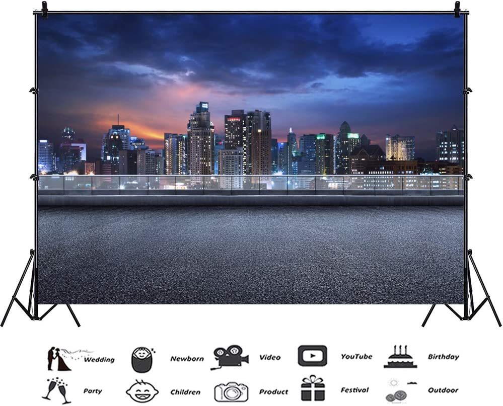 New York Street Commuter Hub Station Background 9x6ft Polyester Photography Backdrop Foggy Steam City Night View Lighted Room Lamplight Film Shoot Video Studio Theme Party Decoration Banner