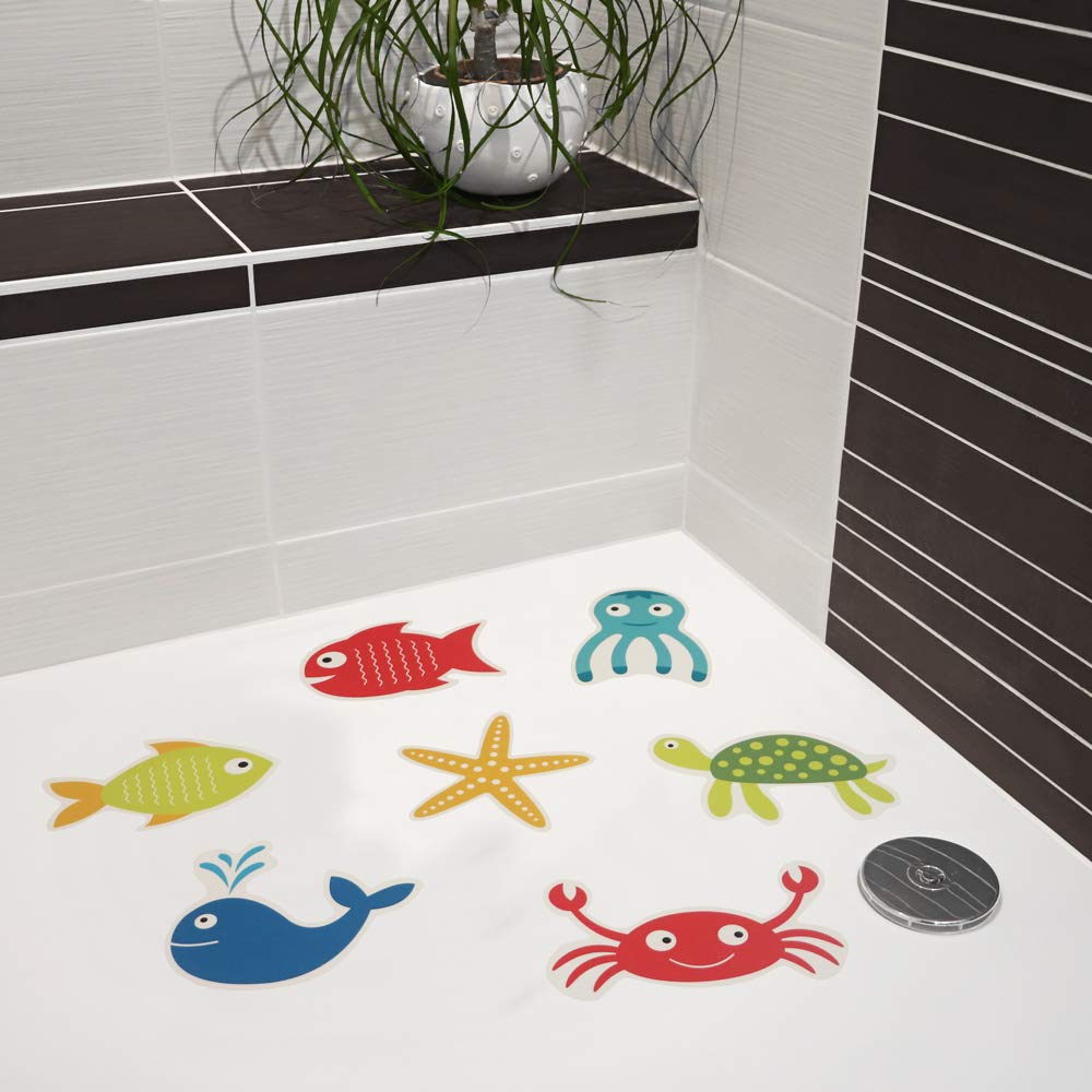rutschsicher Wieder entfernbar AnTina TAPES Anti Rutsch Aufkleber mit Motiven im Set f/ür Dusche und Badewanne Set 1