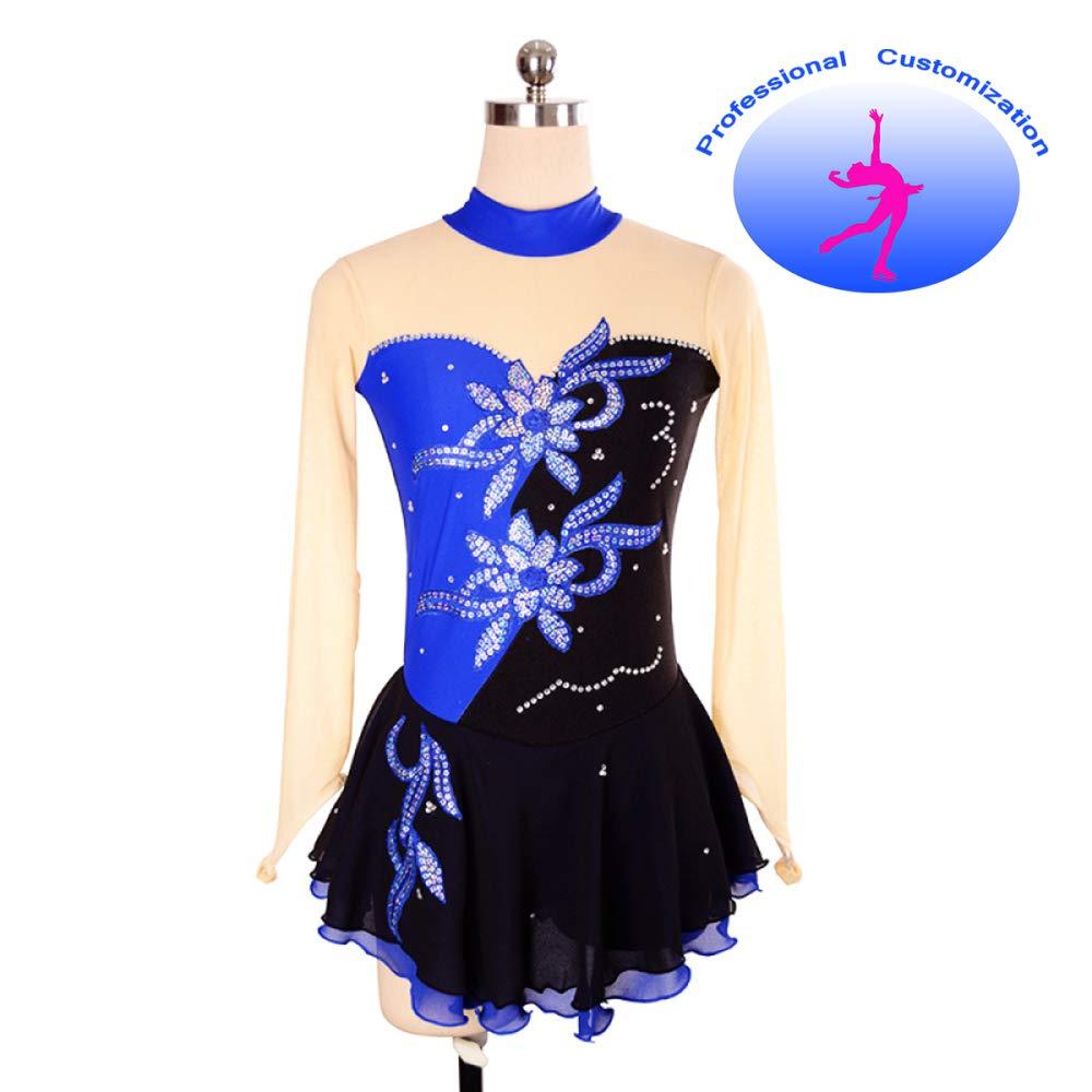 CUIXI Eiskunstlaufkleider Eiskunstlauf Kleid Für Mädchen Mädchen Mädchen Frauen Rollschuhkleid Wettbewerb Kostüm Eislauf Kleider, Professioneller Atmungsaktiver Komfort Von Hoher Qualität B07H92JLHC Bekleidung Wartungsfähigkeit 723539