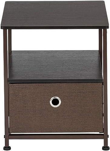 Best modern nightstand: Nightstand 1-Drawer Shelf Storage