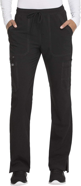 Dickies Mid Rise Boot Cut Drawstring Scrub Pant: Clothing