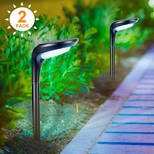 Outdoor Solar Garden Lights, Aockis 3 Pack Solar Stake Light with Fiber Optic Butterfly Decorative Lights,Multi-Color Changing LED Solar Lights Red Yellow Green