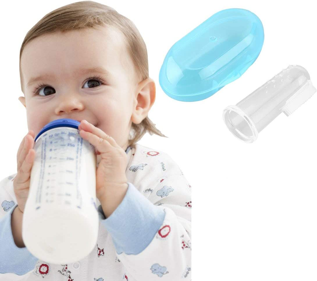 Swiftswan Zahngesundheit Baby Zahnb/ürste Kinder Silikon Fingerb/ürste klar
