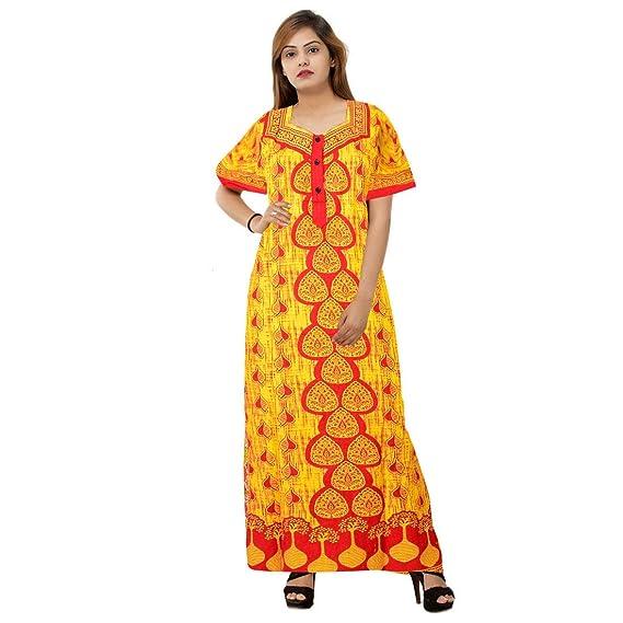 f063a1d873 Silver Organisation Women Cotton Nighty Gown Sleepwear Nightwear Maxi Soft  Night Suit Cotton Beige