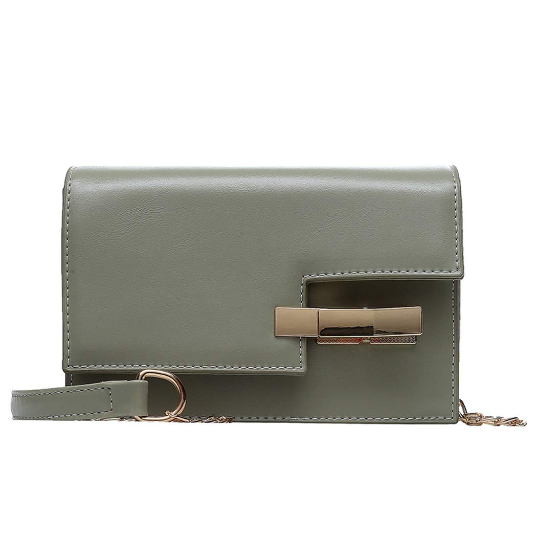 Color : Green, Size : 1919136cm OUSHINA Foreign Air Female Bag New 2019 Summer Small Fresh Fashion Chain Messenger Bag Wild Ins Tide