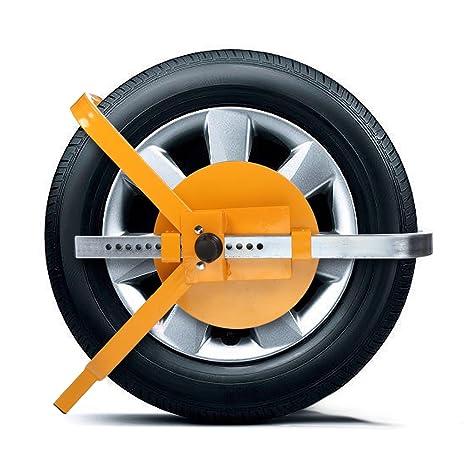 Bloque rueda Universal zapata coche antirrobo rueda coche amarillo