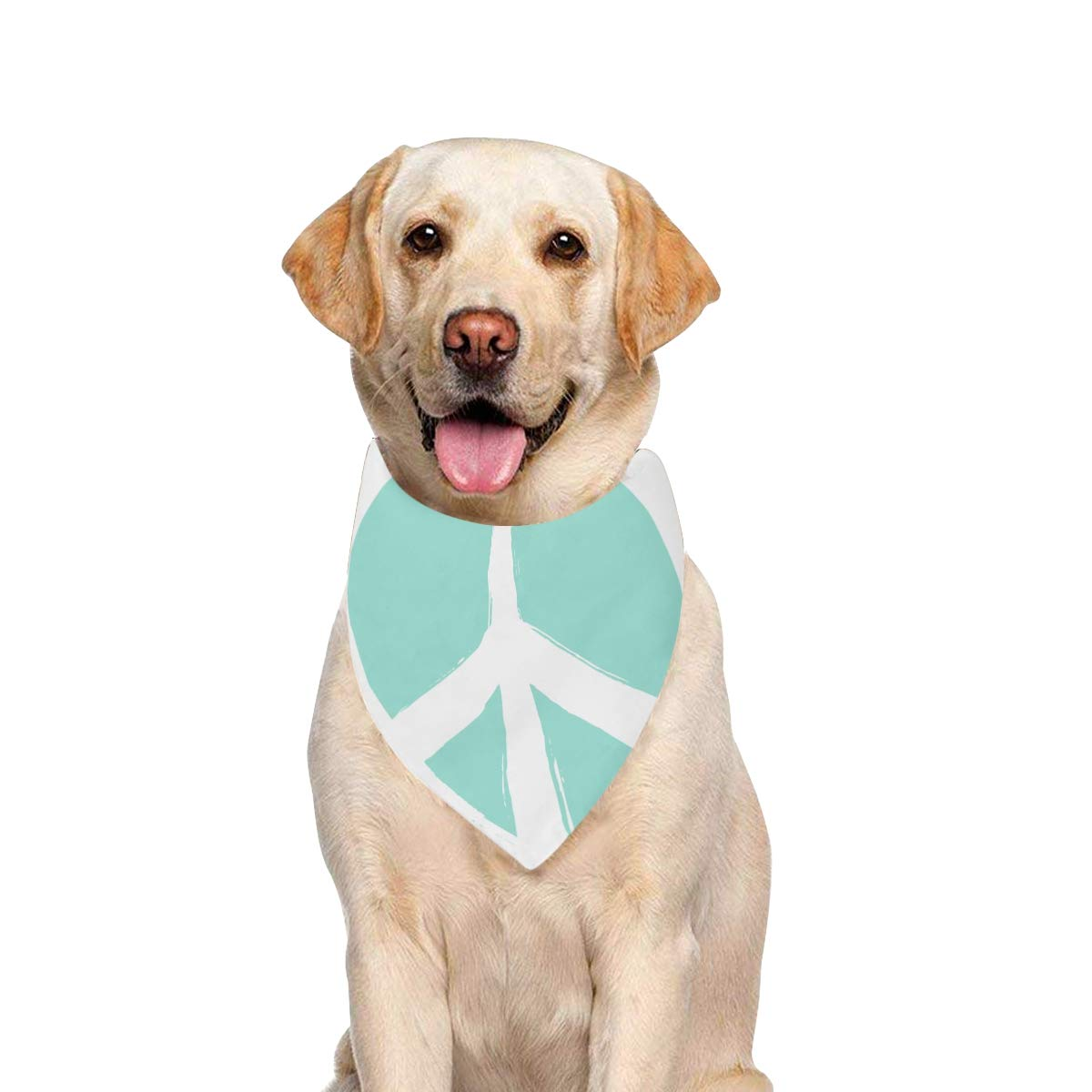 JTMOVING Dog Scarf Isolated Heart Shape Peace Symbol Brush Printing Dog Bandana Triangle Kerchief Bibs Accessories for Large Boy Girl Dogs Cats Pets Birthday Party Gift