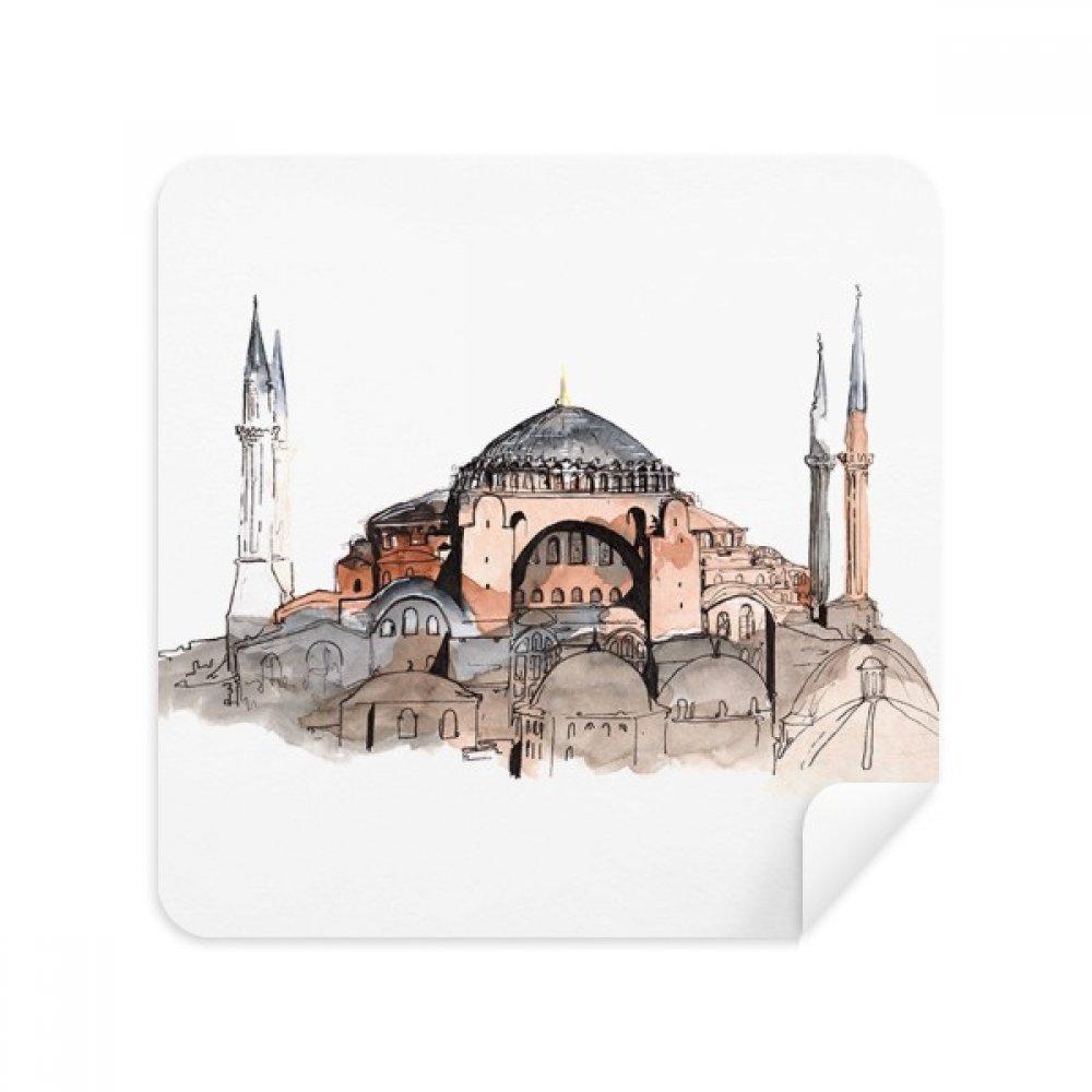 Turkey Hagia Sophia Istanbul メガネ クリーニングクロス 電話スクリーンクリーナー スエード生地 2個   B07C96LGFY
