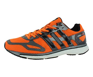 new product b126a 072d2 adidas Mens G97976 Adizero Adios Boost Shoes, OrangeSliverBlack, ...
