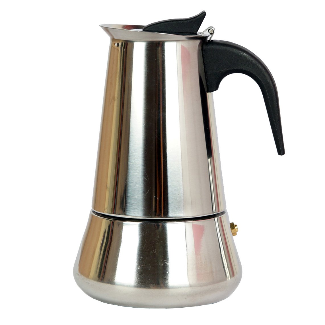 Mykumi Moka Pot 4 Cup Espresso Maker, Stainless Steel for Gas, Electric and Ceramic Stovetops (4 Cup)