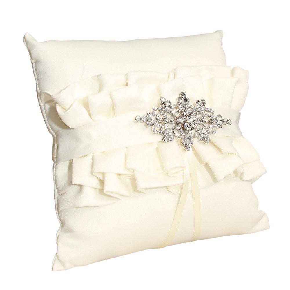 100%品質保証 Ivy LaneデザインウェディングアクセサリーIsabellaリング枕 キャンペーンもお見逃しなく B0082A53GG アイボリー