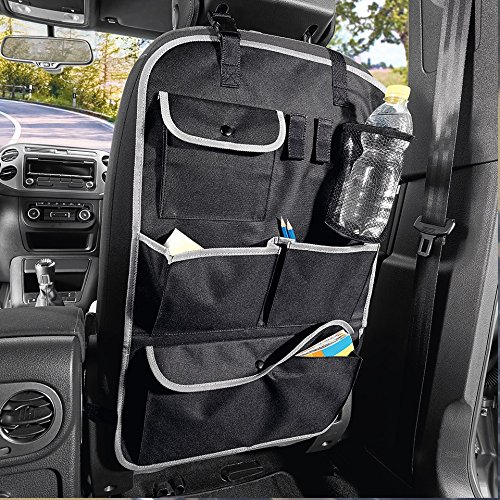 "CARTMAN Standard Car Seat Back Organizer, Multi-Pocket Travel Storage Bag, 16.1"" x 25.6"""