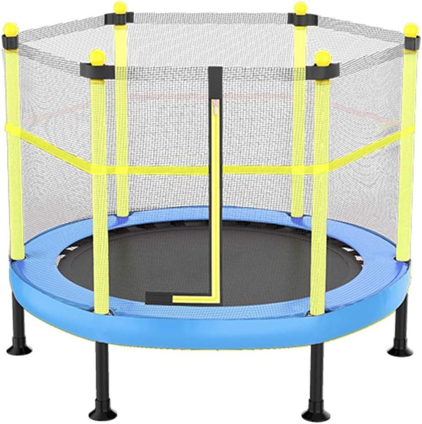 CHENHS 子供用トランポリン セーフティネットとは 弾性ウェビング ミュート 折りたたみ式 屋内外での使用 最大重量200kg (Color : Blue, Size : 120x121cm)