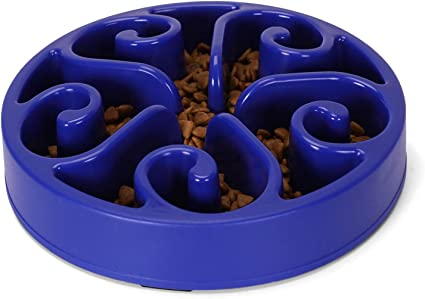 Upgrade Non Slip Puzzle Bowl Fun Feeder Interactive Bloat Stop Dog Bowl WHIPPY Fun Slow Feeder Dog Bowl