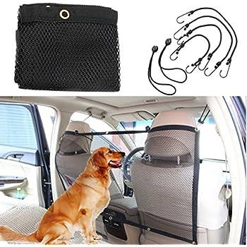 Pet Car Net Barrier,Focuspet Pet Safety Travel Isolation Net Car Universal Mesh Vehicle Van Back Seat Dog Barrier Mesh 45''x24.5''