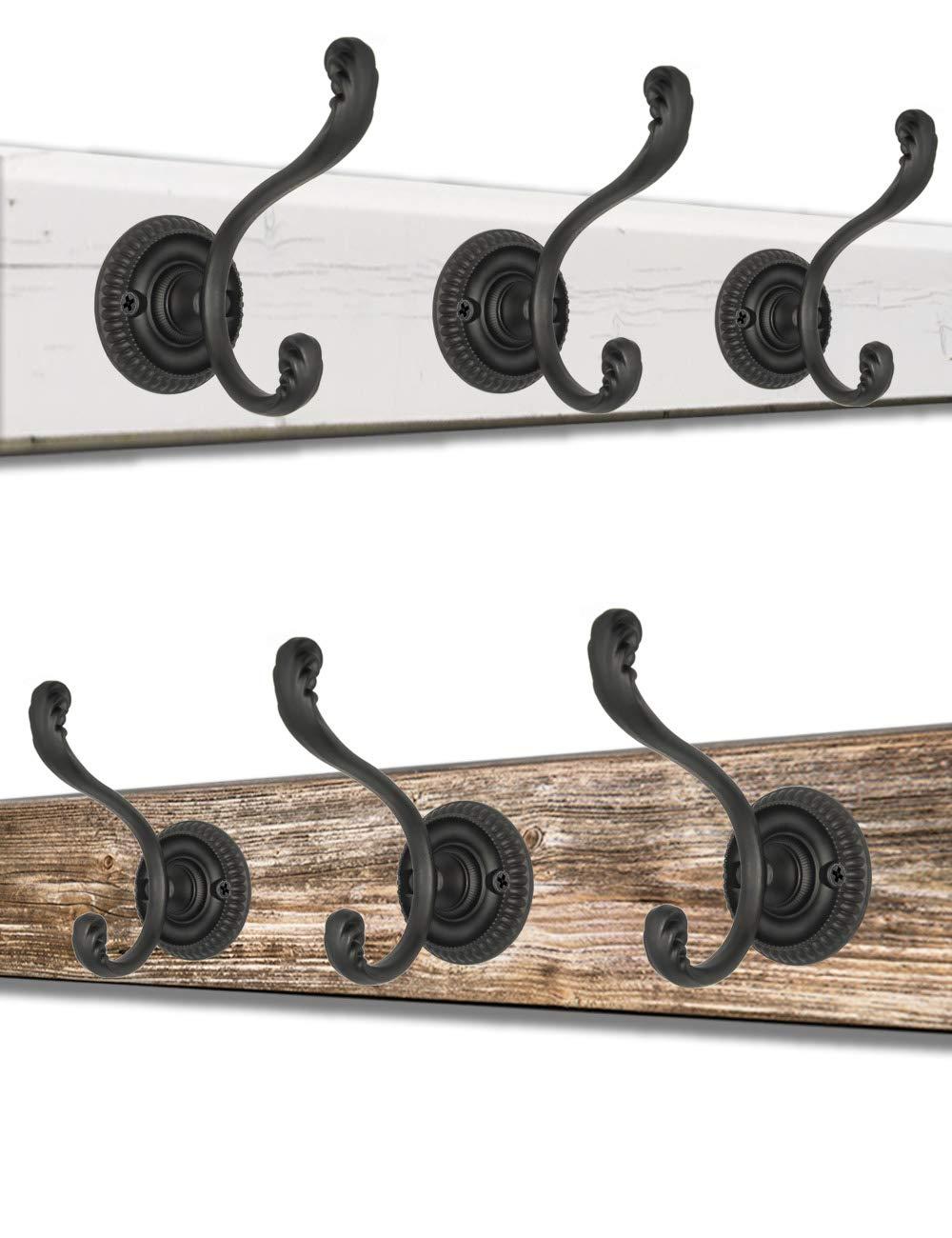 viti incluse colore: nero design classico set da 3 7,5 x 6 cm FUXXER/® Appendiabiti con ganci
