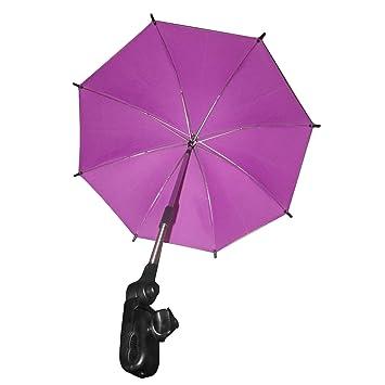 Cochecito De Bebé Ajustable Cochecito Parasol Sun Shade ProteccióN Contra La Lluvia UV Paraguas Sombrilla Con Sujetador Clip Para Silla De Ruedas Cochecito ...